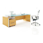Sam D Glass Executive Desk