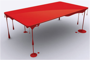 Illusory Dripping Paint Table